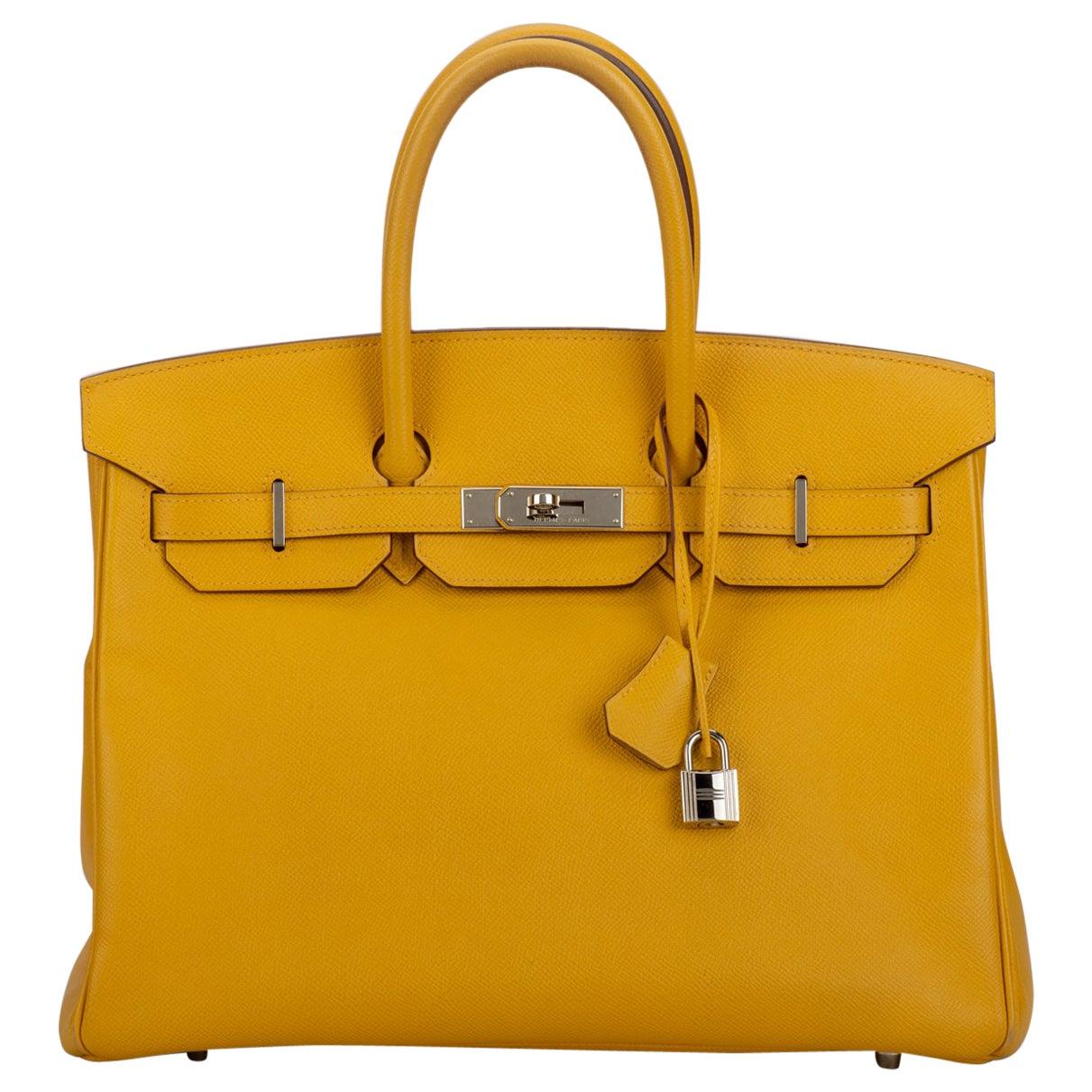 Hermes Birkin 35 Jaune d'or Yellow Min Condition