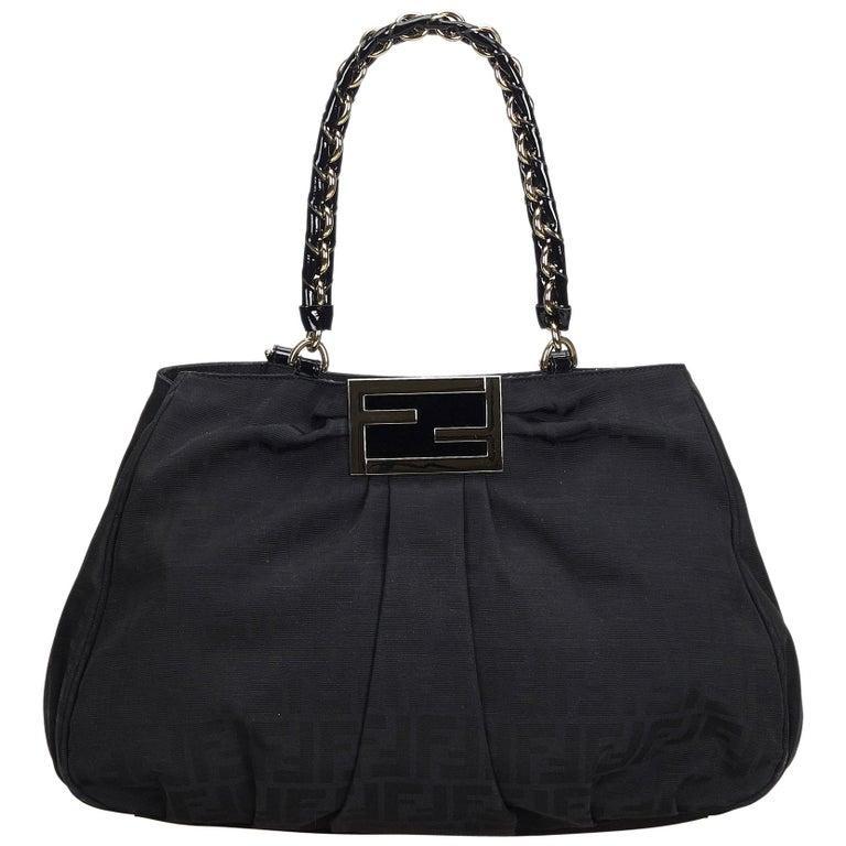 2c059f8812 Fendi Black Zucca Jacquard Mia Tote Bag at 1stdibs
