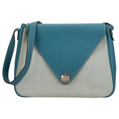Hermes Vintage Blue Jean Toile Bag