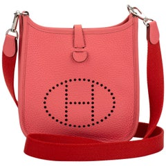 New in Box Hermes Mini Evelyne Rose Azalee Crossbody Bag