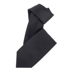 Hermes Tie Faconnee H Black H Silk New