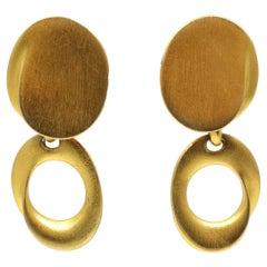 Vintage 1970s Oval Drop Earrings