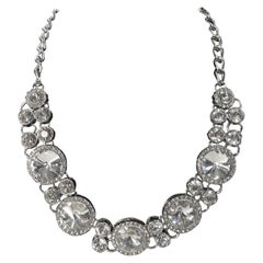 Vintage Rivoli Clear Crystal Necklace