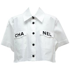 Chanel  2019 White Shirt Runway Piece  NEW 38FR