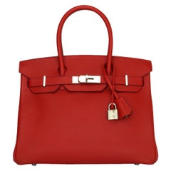 Hermès Birkin 30cm Bag Rouge Casaque Epsom Leather w/Palladium Hardware 2013