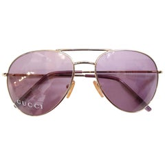Gucci 1990s Purple Lens Aviators