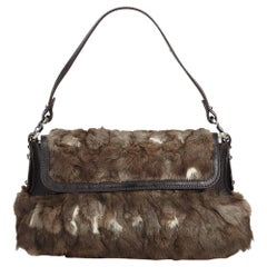 Fendi Brown Fur Chef Baguette