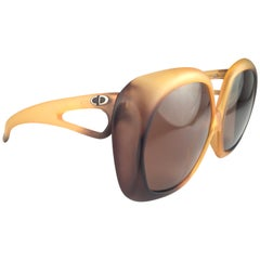New Vintage Christian Dior 2005 Matte Ombre Amber Oversized Optyl Sunglasses
