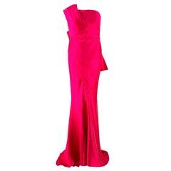 Donna Karan Pink Mikado Silk Gown US 4