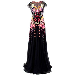Temperley Chimera Black-Embroidered Gown US 6
