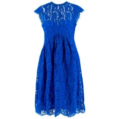 Emilio Pucci V-back blue lace dress US 6