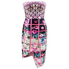 Mary Katrantzou Patterned Silk Dress US 0-2