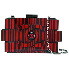 Limited Edition Chanel Red Op-Art Lego Bag