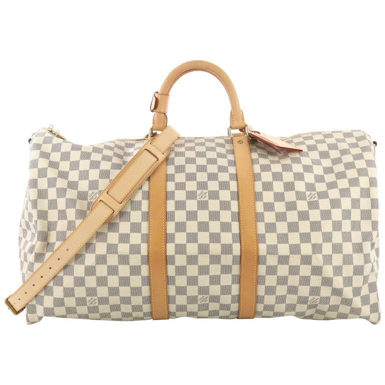 Louis Vuitton Keepall Bandouliere Bag Damier 55 For Sale
