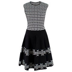 Alexander McQueen Black and White Geometric Dress US 6