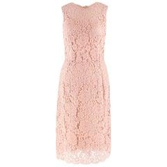 Dolce & Gabbana Nude Lace Dress US 4