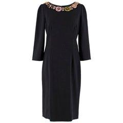 Dolce & Gabbana Black Crystal Embellished Dress US 8