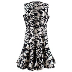 Lanvin Drop waist jacquard dress US 6