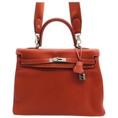 Hermes Sanguine Kelly 35cm in Clemence