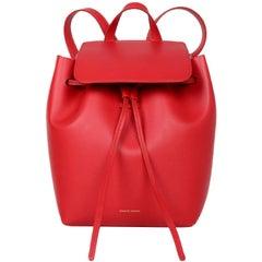 Mansur Gavriel Flamma Red Leather Mini Backpack Bag