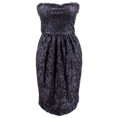Fendi Strapless Sequined Dress US 6