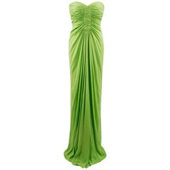 Amanda Wakeley Lime Green Strapless Gown US 6