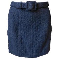 Chanel Boutique Black Boucle Wool Mini Skirt