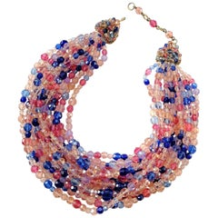 Multi row faceted bead necklace, Coppola e Toppo, 1950s