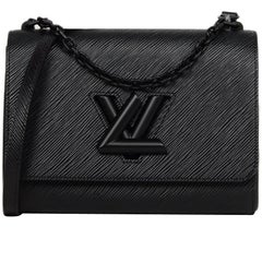 Louis Vuitton Black Epi Leather/Matte Black LV Twist MM Crossbody Bag