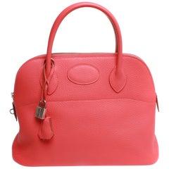 Hermès Sac Bolide 31 Taurillon Clemence Leather Top Handle Handbag