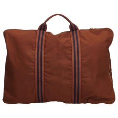 Hermes Brown Canvas Porte-Document Business Bag