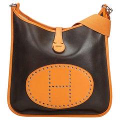 Hermes Brown Leather Evelyne GM