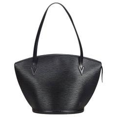 Louis Vuitton Black Epi Saint Jacques GM Long Strap