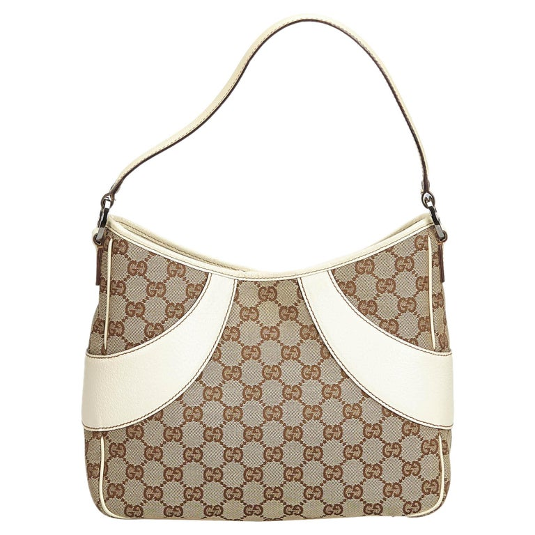 e602b80d337a Gucci Brown GG Jacquard Shoulder Bag at 1stdibs