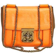 Chloe Orange Leather Elsie Crossbody Bag
