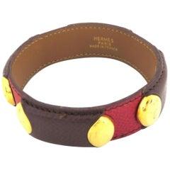Hermès Burgundy Lizard 222927 Bracelet