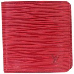 d66ff303417a Louis Vuitton Bifold Wallet 222003 Red Epi Leather Shoulder Bag
