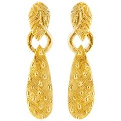 Giulia Barela Salento earrings, gold plated bronze
