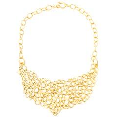 Giulia Barela 24 karat Gold Plated Bronze Air Necklace