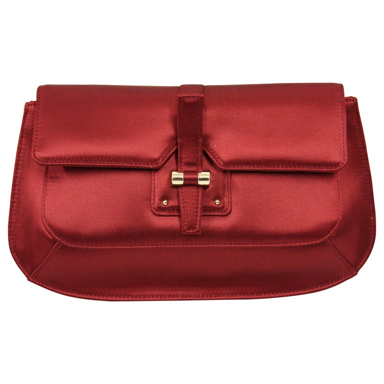 82815b8951d 2000s Yves Saint Laurent Satin Silk Clutch For Sale at 1stdibs