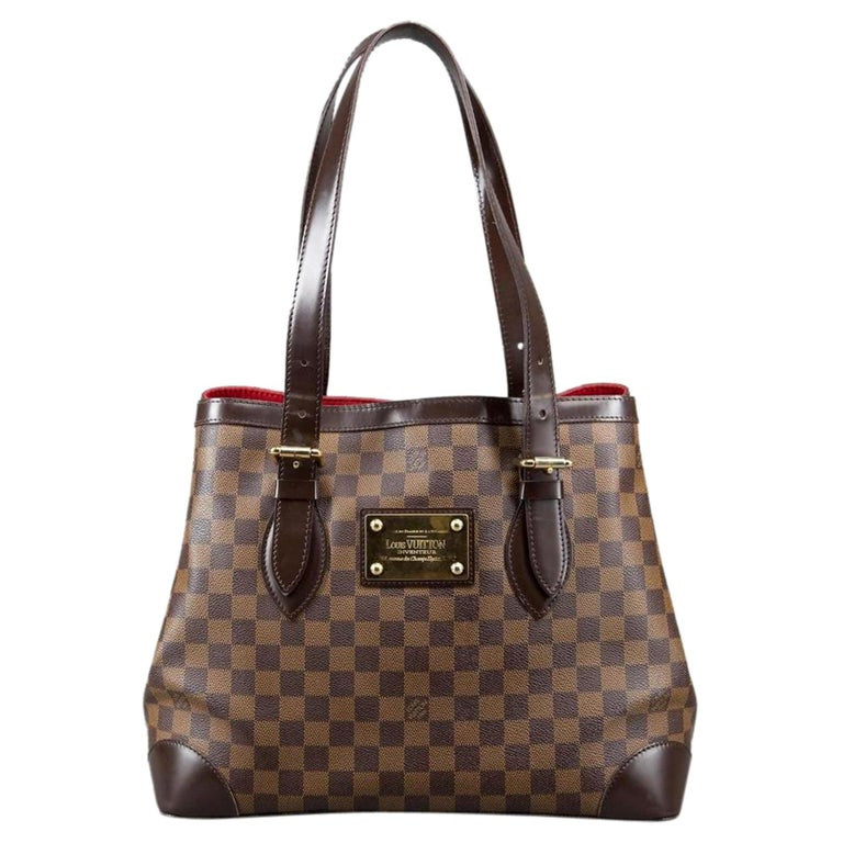 e942bf224d38 Louis Vuitton Hampstead Damier Ebene Pm 230090 Brown Coated Canvas Shoulder  Bag For Sale