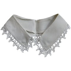 Antique Belgian Lace and Linen Collar