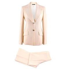 Versace Cream Wool Two Piece Suit US 4