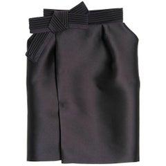 Lanvin Bow Detail Silk Skirt