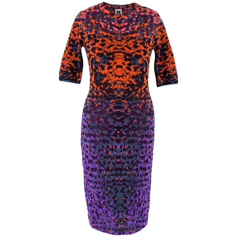 bd2a2d873ef Missoni Multi-Coloured Stretch Knit Dress US 0-2 For Sale at 1stdibs