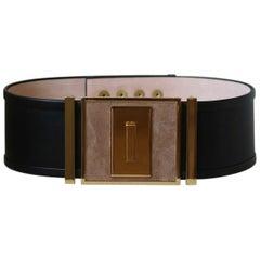 Balmain Embellished Suede Waist Belt
