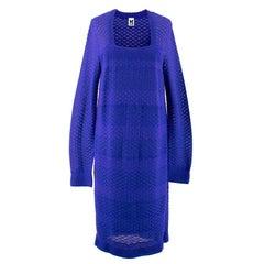 M Missoni Blue Sheer Knit Dress US 10