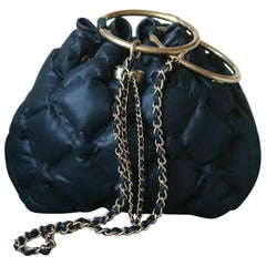 Chanel Cuba Cruise Leather Drawstring Bag
