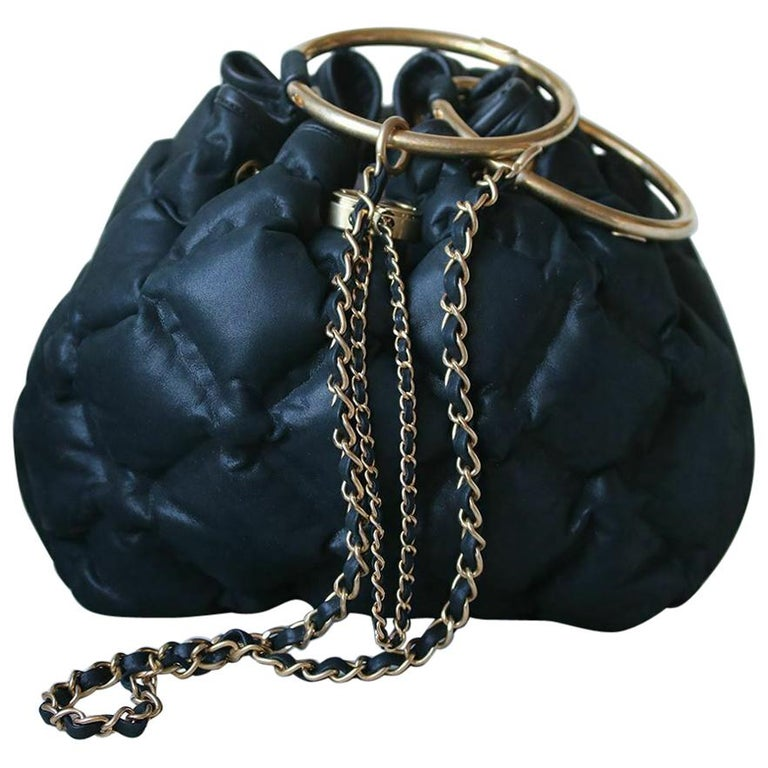 2a2b66b36eed Chanel Cuba Cruise Leather Drawstring Bag For Sale at 1stdibs