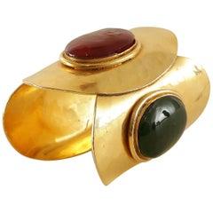 Chanel Gold Gripoix Cuff Bracelet